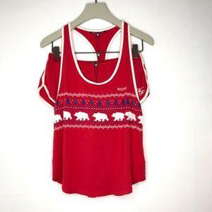 Wildfox Christmas Polar Bear Short Pyjama Set